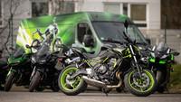 Kawasaki - Testfahrwochen in Grün