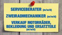 Service-Berater, Zweiradmechaniker, Verkauf Motorräder/Bekleidung und Ersatzteile (m/w/d)