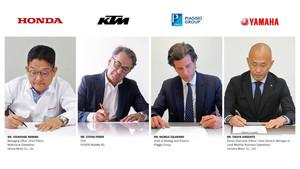 Honda, Piaggio, KTM und Yamaha machen gemeinsame Sache